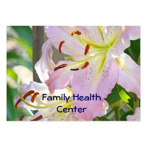 Centro médico de visita de los lirios de la salud  plantillas de tarjetas personales