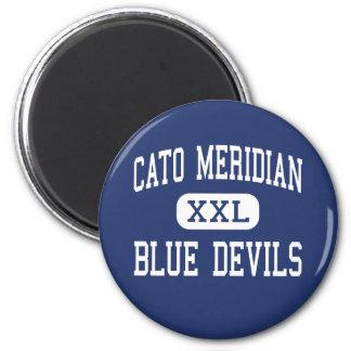 Centro meridiano Cato de los diablos azules de Cat Imanes De Nevera
