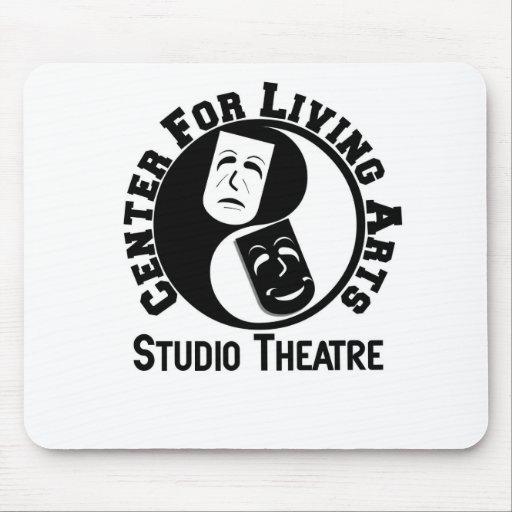 Centro para el logotipo vivo de los artes alfombrilla de ratón