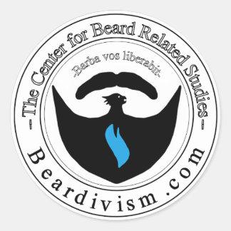 Centro para la barba relacionada aprendiendo al pegatina redonda