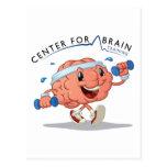 Centro para la postal del entrenamiento del cerebr