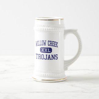 Centro Rochester de los Trojan de Willow Creek Jarra De Cerveza