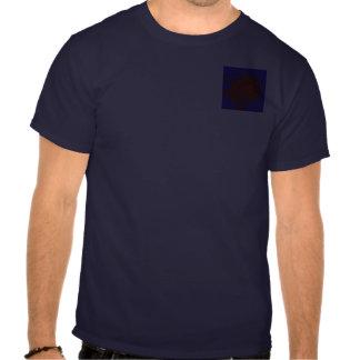 Centro rojo, cierre para arriba camiseta
