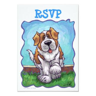Centro RSVP del fiesta de St Bernard Invitación 8,9 X 12,7 Cm