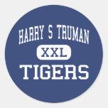 Centro San José de los tigres de Harry S Truman Etiqueta Redonda