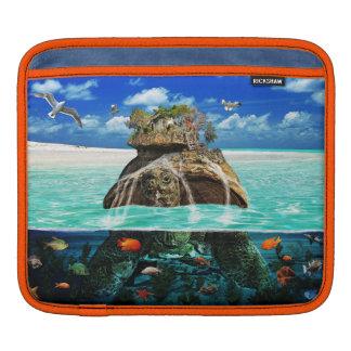 Centro turístico aislado de la fantasía de la isla mangas de iPad