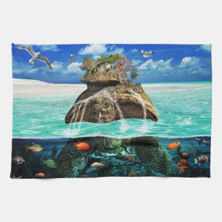 Centro turístico aislado de la fantasía de la isla toalla