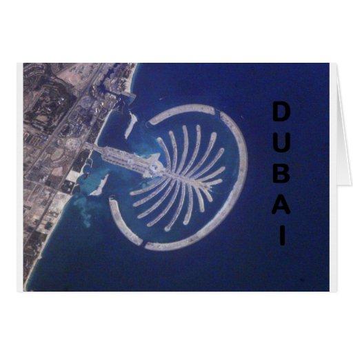 Centro turístico árabe de la Palma-Isla de Dubai d Tarjeta De Felicitación