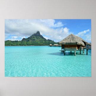 Centro turístico de Overwater en el poster de Bora Póster