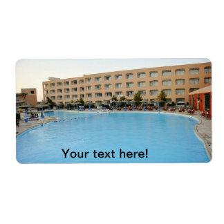 Centro turístico del hotel de Hurghada Etiquetas De Envío