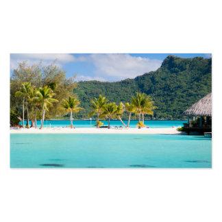 Centro turístico exótico tarjetas de negocios