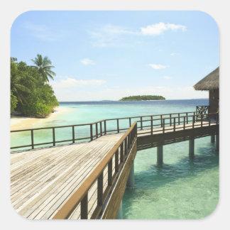 Centro turístico isleño de Bandos, atolón masculin Calcomanías Cuadradases