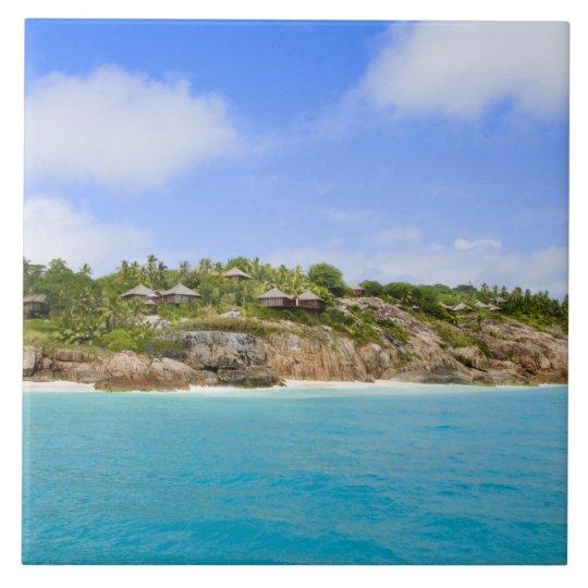 Centro turístico isleño de la fragata (banda) azulejo cuadrado grande