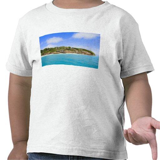 Centro turístico isleño de la fragata (banda) camisetas