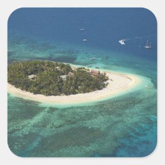 Centro turístico isleño del Beachcomber, Fiji Pegatina Cuadrada
