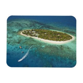 Centro turístico isleño y barco, Fiji del tesoro Iman Flexible