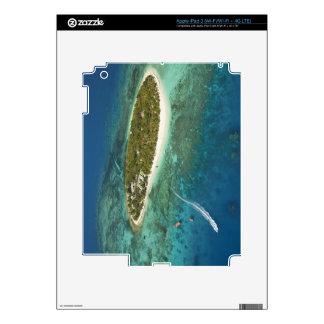 Centro turístico isleño y barco, Fiji del tesoro Pegatina Skin Para iPad 3