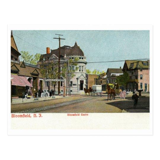 Centro, vintage de Bloomfield NJ c1905 Postal