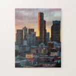 Centro y Seattle céntrica, Seattle de Columbia Puzzle Con Fotos