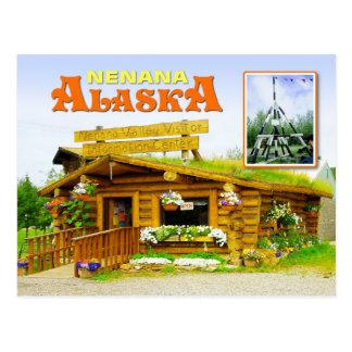 Centro y trípode, Nenana, Alaska del visitante Postal