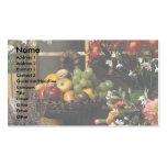 Centros de la fruta y de flores tarjetas de visita