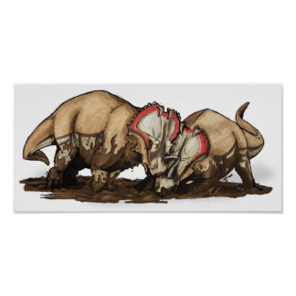 Centrosaurus - dinosaur poster