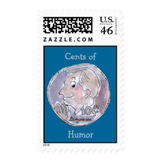Cents of Humor Postage Stamp