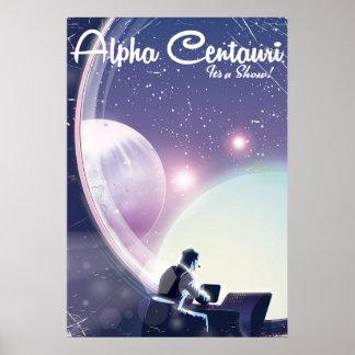 Centurai alfa, su una demostración, poster del póster
