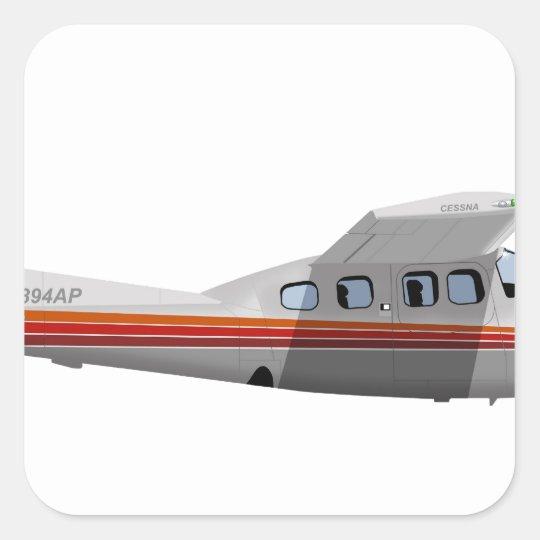 Centurión 394394 de Cessna 210P Pegatina Cuadrada