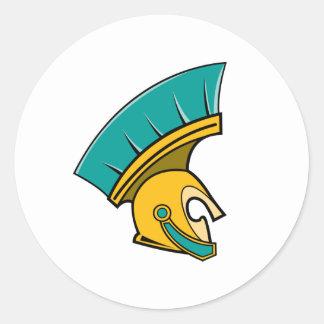 Centurion Helmet Round Sticker