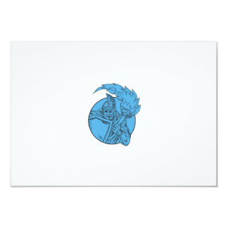 Centurion Soldier Torch Circle Drawing Card