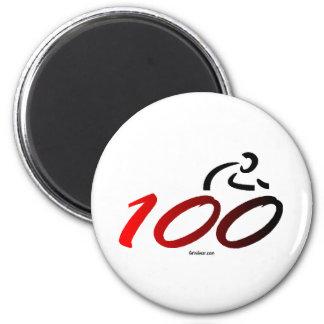 Century bike ride 2 inch round magnet