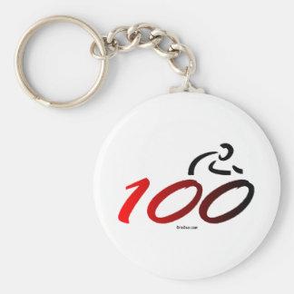 Century bike ride basic round button keychain