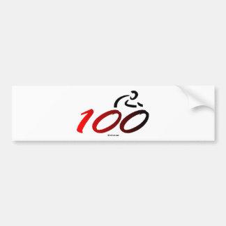 Century bike ride bumper sticker