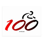 Century bike ride postcard