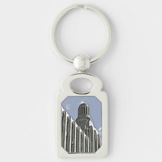 Century Building, Melbourne Silver-Colored Rectangular Metal Keychain