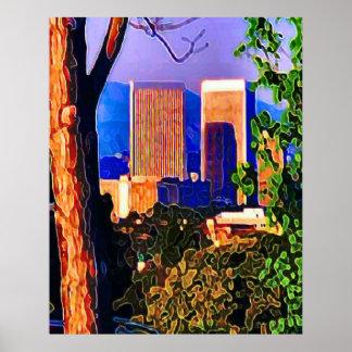Century City Sunset Poster