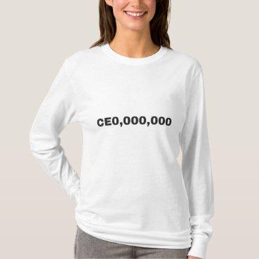 CEO,000,000 Motivational Women's Shirt
