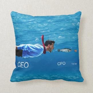 CEO, CFO, C-ya Later Business Humor Pillow