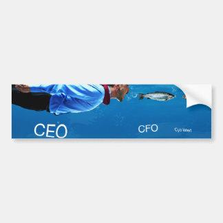 CEO CFO C ya Later Office Humor Bumper Sticker