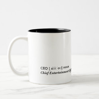 CEO - Chief entretenimiento Officer Taza Dos Tonos