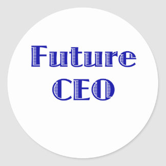 CEO del futuro Etiquetas Redondas