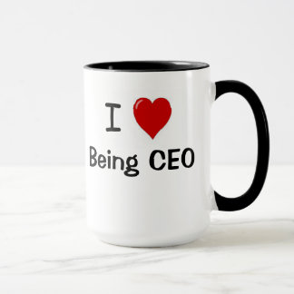 CEO - Funny - I Love Being CEO Heart Double sided Mug