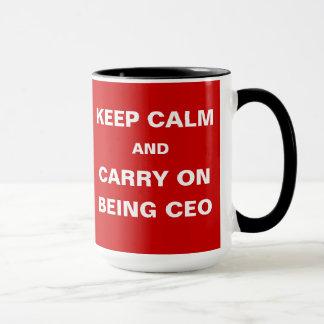 CEO - Funny - Keep Calm Carry On Being CEO Joke Mug
