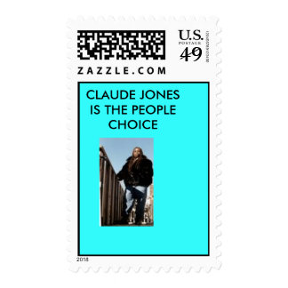 ceo him self, CLAUDE JONES  IS THE PEOPLE CHOICE Postage Stamp