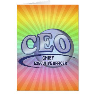 CEO LOGO BLUE CHIEF EXECUTIVE OFFICER CARD