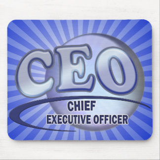 CEO LOGO BLUE CHIEF EXECUTIVE OFFICER MOUSE PAD