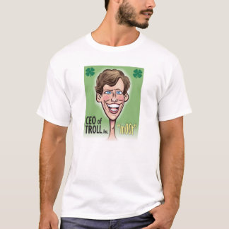 CEO of TROLL Men's Basic T-Shirt, White T-Shirt