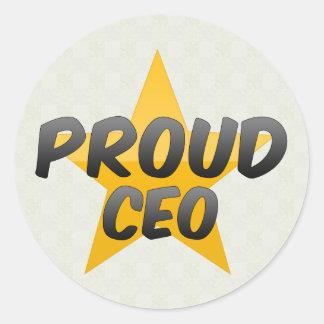 CEO orgulloso Pegatina Redonda