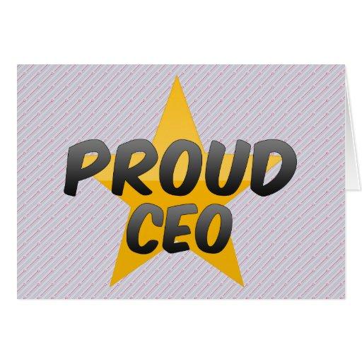CEO orgulloso Tarjeta De Felicitación